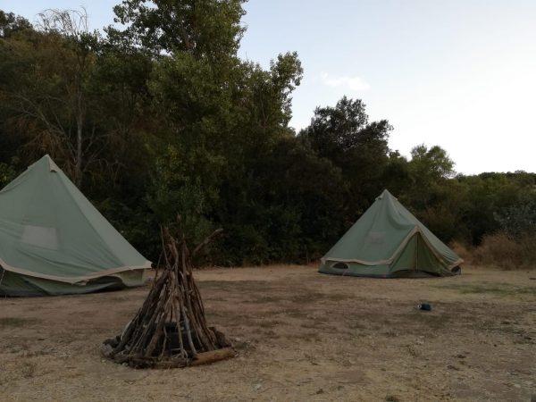 campamento verano - tiendas